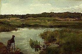 Wilhelm Trübner: Dogge am Weßlinger See