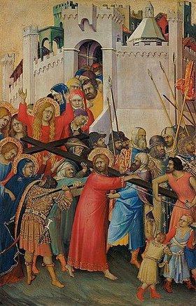 Simone Martini: Die Kreuztragung. Um 1336/1342(?)