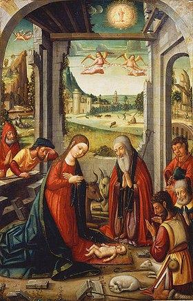 Meister von Játiva: Die Geburt Christi