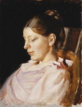 Michael Peter Ancher: Bildnis von Anna Ancher, der Frau des Künstlers