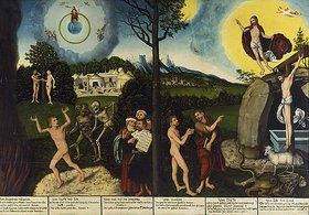 Lucas Cranach d.Ä.: Sündenfall und Erlösung des Menschen. Altar