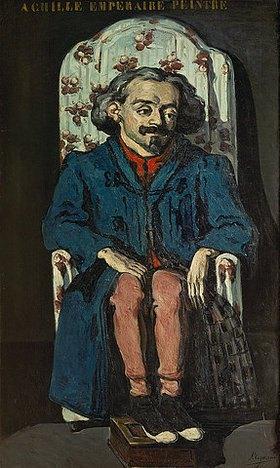 Paul Cézanne: Bildnis Achille Emperaire im Lehnstuhl. Gegen