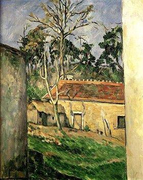 Paul Cézanne: Hof eines Bauernhauses in Auvers
