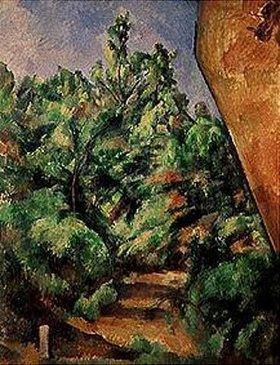 Paul Cézanne: Der rote Felsen. Gegen