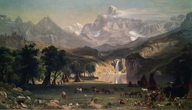 Albert Bierstadt: Indianerlager in den Rocky Mountains