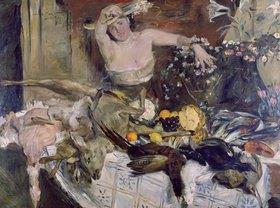 Lovis Corinth: Großes Stilleben mit Figur, Geburtstags- bild