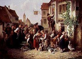 Friedrich Friedländer: Der Maler im Dorfe. 1873.