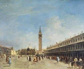 Francesco Guardi: Venedig, auf dem Marcus-Platz. Wohl 1750er Jahre