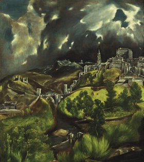 Greco El (Dom.Theotokopoulos): Gewitter über Toledo