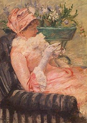Mary Cassatt: Dame beim Tee