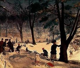 William James Glackens: Im Winter im Central-Park in New York