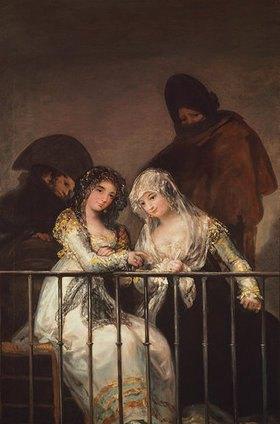 Francisco José de Goya: Zwei Majas auf dem Balkon