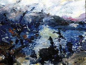 Lovis Corinth: Walchensee, Berge in Wolken