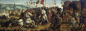 Cassone Meister: Die Eroberung von Athen durch Minos