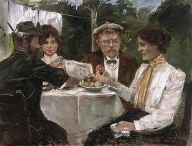 Lovis Corinth: Frühstück in Max Halbes Garten