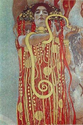 Gustav Klimt: Hygieia. Detail aus der Medizin