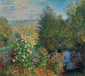 Claude Monet: Stiller Winkel im Garten von Montgeron. (oder: Die Dahlien)