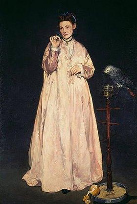 Edouard Manet: Frau mit Papagei