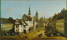 Bernardo (Canaletto) Bellotto: Der Marktplatz von Pirna