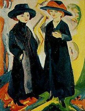 Ernst Ludwig Kirchner: Zwei Damen im Strassen-Kostüm