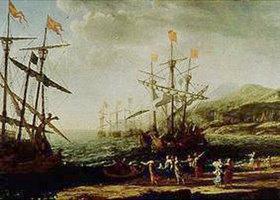 Claude Lorrain (Gellée): Die Frauen von Troja setzen ihre Flotte in Brand