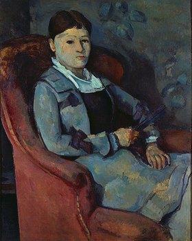 Paul Cézanne: Die Frau des Künstlers mit dem Fächer