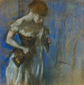 Edgar Degas: Frau beim Schnüren ihres Korsetts