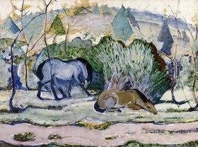 Franz Marc: Pferde auf der Weide