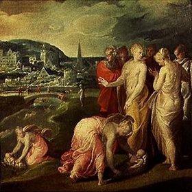 Nicolo dell' Abate: Die Auffindung des Mosesknaben