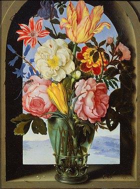 Ambrosius d.Ä. Bosschaert: Blumenstilleben in einem Rundbogen