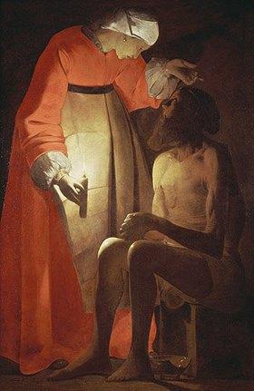 Georges de La Tour: Hiob wird von seinem Weib verspottet