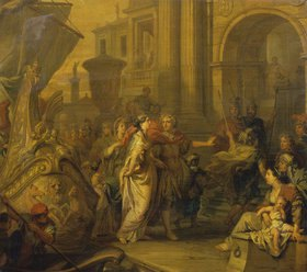 Gerard de Lairesse: Die Landung der Cleopatra in Tarsus