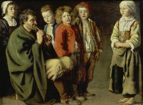 Louis Le Nain: Der alte Flötenspieler