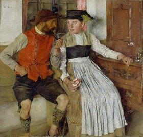 Wilhelm Leibl: In der Bauernstube