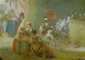 Jean Honoré Fragonard: Das Fest im Park von St.Cloud: (Detail). 1778-80 (Gesamtansicht: 12834)