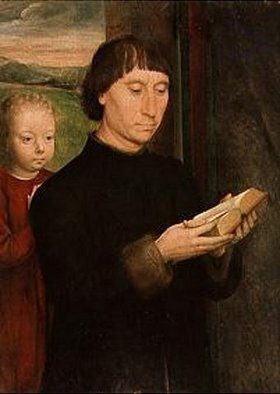 Hans Memling: Bildnis eines lesenden Mannes