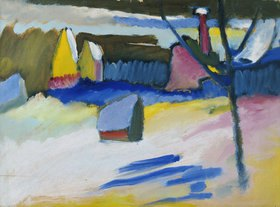 Wassily Kandinsky: Murnau, Landschaft mit kahlem Baum, Spätherbst