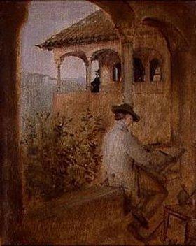 Franz von Lenbach: Der Tocador de la Reina auf der Alhambra in Granada