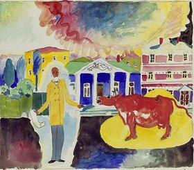 Wassily Kandinsky: Kuh in Moskau