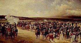 Adolf Ladurner: Französische Truppen paradieren vor Charles X. (Oktober 1829)