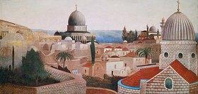Tivadar Csontváry-Kosztka: Blick vom Tempelplatz in Jerusalem auf das Tote Meer