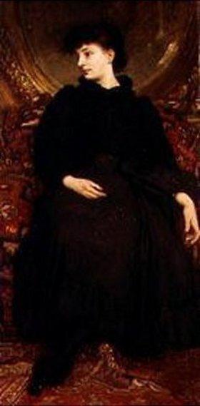 Károly Lotz: Kornélia in schwarzem Kleid