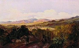 Johann Moritz Rugendas: Blick auf Jalapa und den Pico de Orizaba (Mexiko). Anfang 1830-er Jahre