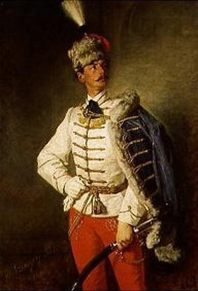 Pál Szinyei-Merse: Bildnis von László in Husarenuniform