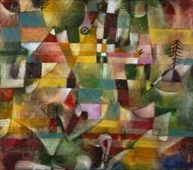 Paul Klee: Landschaft mit gelbem Kirchturm