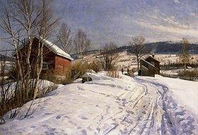Peder Moensted: Winterlandschaft bei Lillehammer