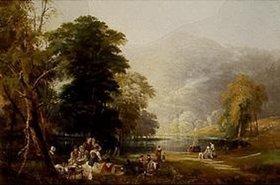 Thomas Miles Richardson d.Ä.: Picknick im Gebirge, am Ufer eines Sees