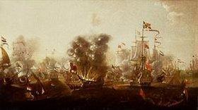 Willem van der Stoop: Die Explosion des Schiffes Eendracht in der Schlacht von Lowestoft (