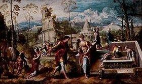 Cornelis Buys: Jakob und Rahel am Brunnen