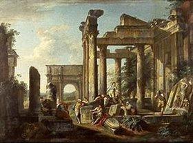 Hubert Robert: Freizeit der Soldaten inmitten römischer Ruinen